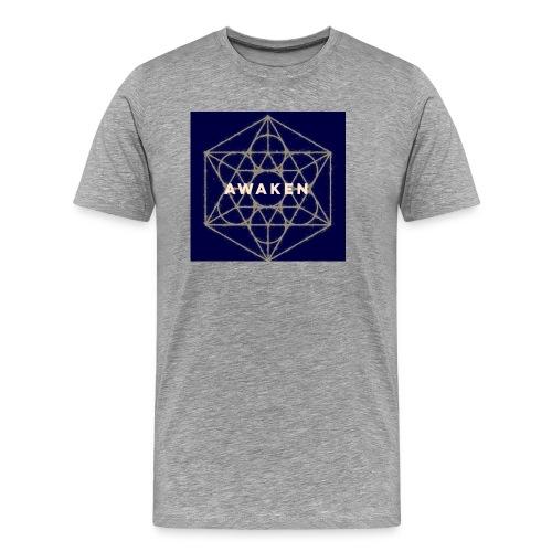 Awaken - Sacred Geometry - Men's Premium T-Shirt