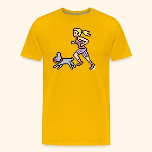 RunWithPixel - Men's Premium T-Shirt