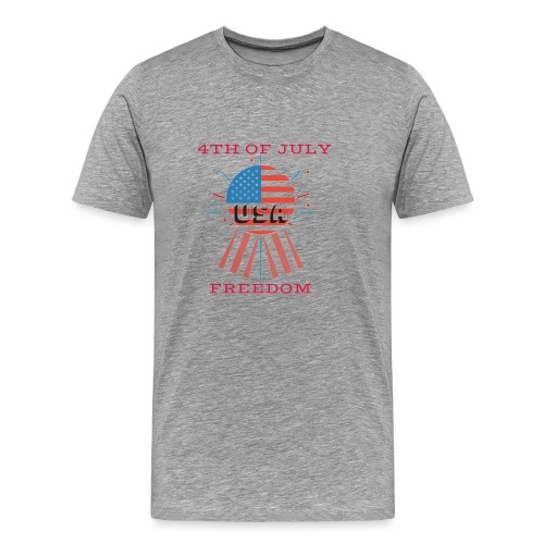 4th of July Freedom - Men's Premium T-Shirt