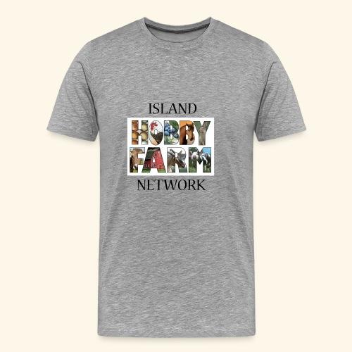 Island Hobby Farm Black Logo - Men's Premium T-Shirt