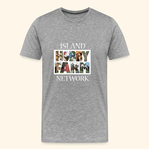 Island Hobby Farm White Logo - Men's Premium T-Shirt