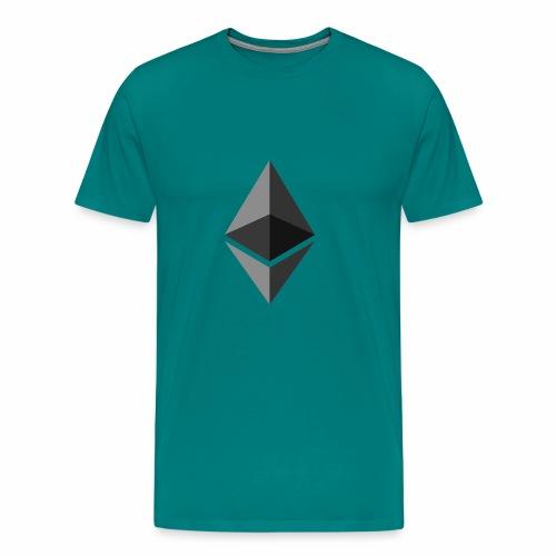 ethereum icon brand - Men's Premium T-Shirt