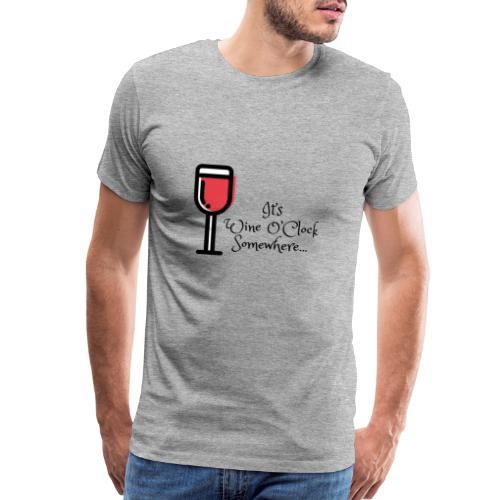 Wine O'clock - Men's Premium T-Shirt