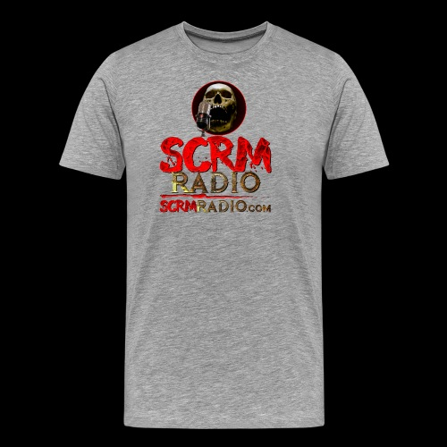 SCRM Radio Logo with Skull - Men's Premium T-Shirt
