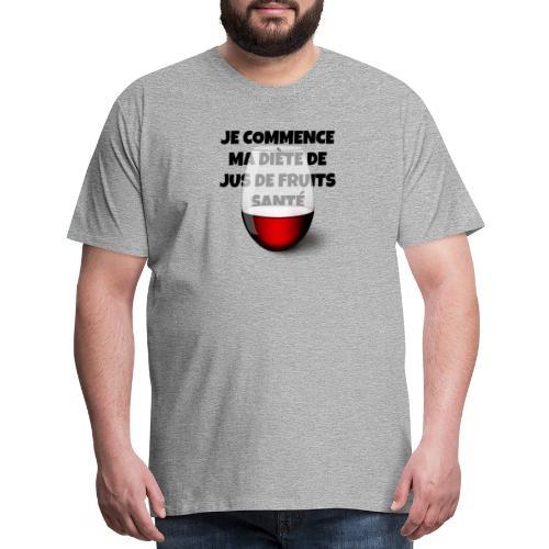 Healthy fruit juice diet - Men's Premium T-Shirt