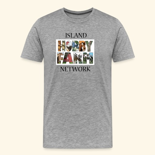 Island Hobby Farm Black Logo - Men's Premium T-Shirt