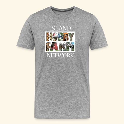 Island Hobby Farm White Logo - Men's Premium T-Shirt