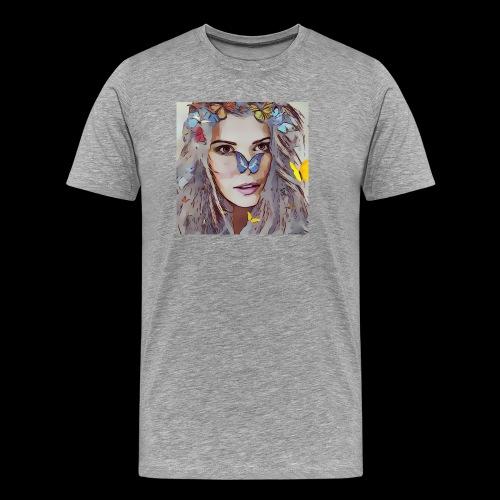 fairy , beautiful woman, butterfly magic design - Men's Premium T-Shirt
