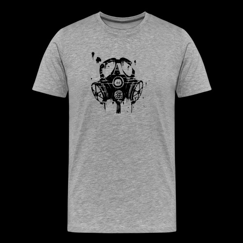 Big Black Gas Mask - Men's Premium T-Shirt