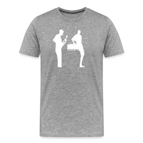 Rollz and Dice Logo WHITE - Men's Premium T-Shirt