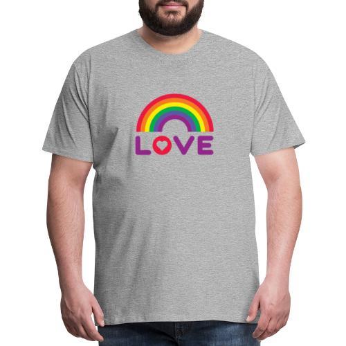 Rainbow Love - Men's Premium T-Shirt