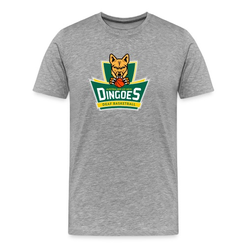 Australian U21 Men Dingoes - Deaf Basketball - Men's Premium T-Shirt