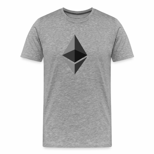 ethereum icon brand - Men's Premium T-Shirt