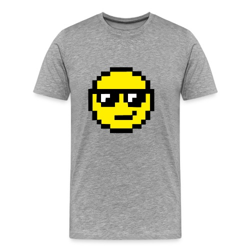 Pixel Smiley Yellow - Men's Premium T-Shirt