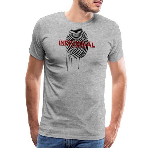 Zebra Fingerprint black - Men's Premium T-Shirt