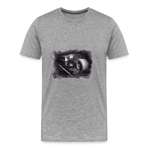 drawn SkateBoard - Men's Premium T-Shirt