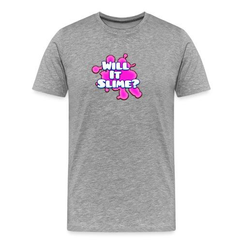 Pink Will It Slime Logo - Men's Premium T-Shirt