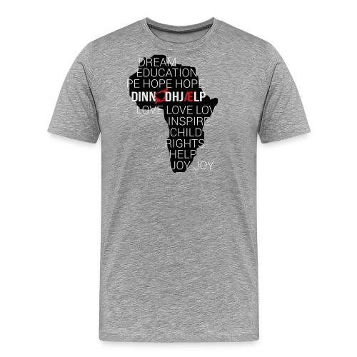 DINNoedhjaelp Africa logo - Men's Premium T-Shirt