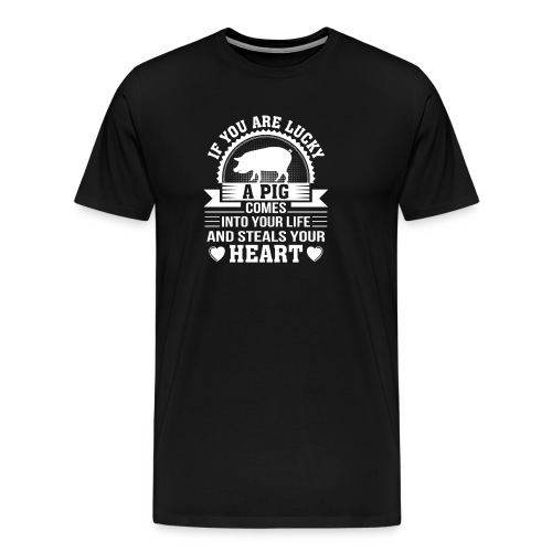 Mini Pig Comes Your Life Steals Heart - Men's Premium T-Shirt
