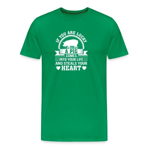 Mini Pig Comes Your Life Steals Heart - Men's Premium T-Shirt