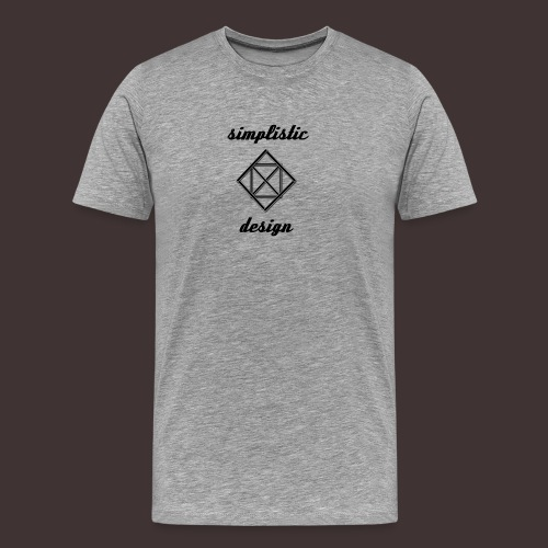 Simplistic Design Logo With Text - Men's Premium T-Shirt