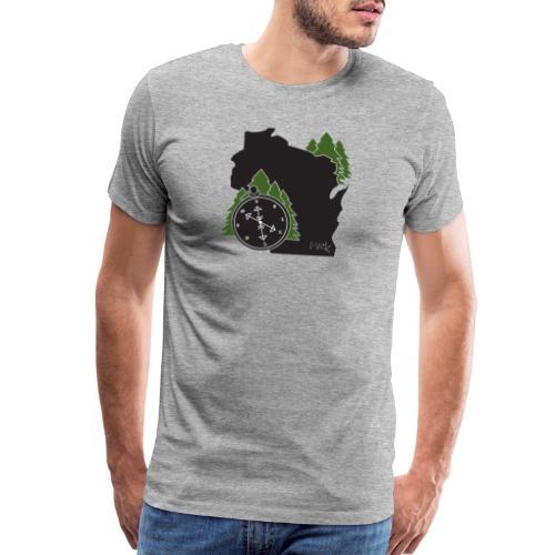 Wisconsin Compass Logo - Men's Premium T-Shirt