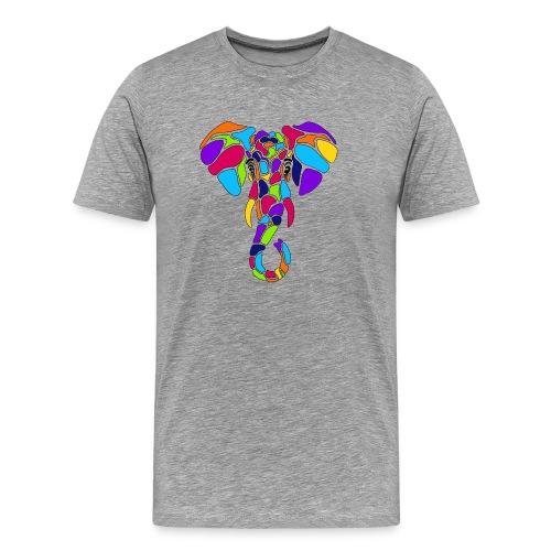 Art Deco elephant - Men's Premium T-Shirt