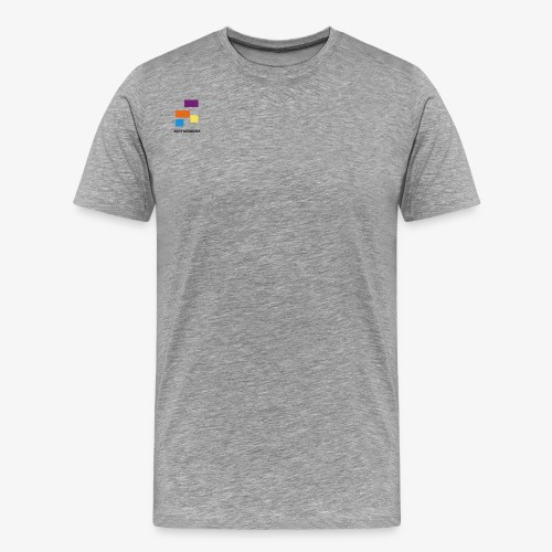 White with Colorful Shapes Abstract Logo 2 - Men's Premium T-Shirt