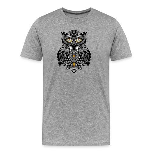 OWL Bohemian Design T-shirt BUHO FUNCLE - Men's Premium T-Shirt