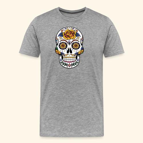 Men Women Flower Sugar Skull Shirt Day of the Dead - Men's Premium T-Shirt
