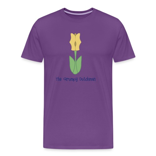 Shoe Tulip blue lettering - Men's Premium T-Shirt