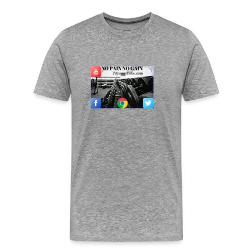 gym no pain no gain 1 - Men's Premium T-Shirt
