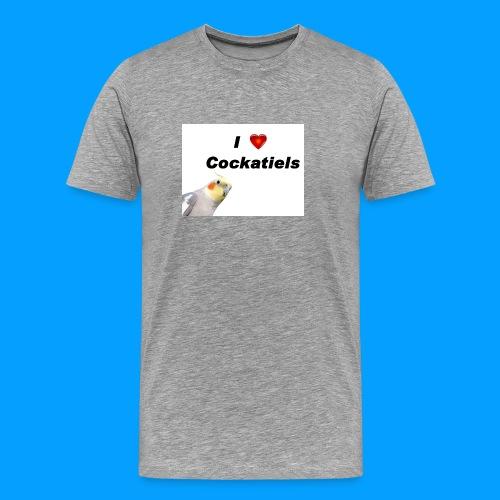 Cockatiels - Men's Premium T-Shirt