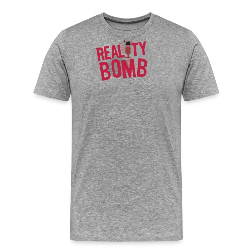 Reality Bomb logo png - Men's Premium T-Shirt