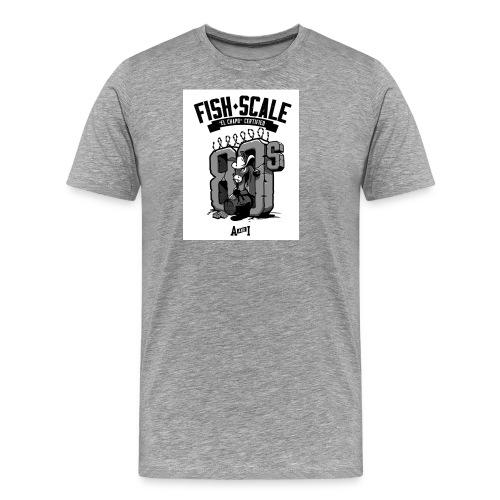 fish scale design - Men's Premium T-Shirt