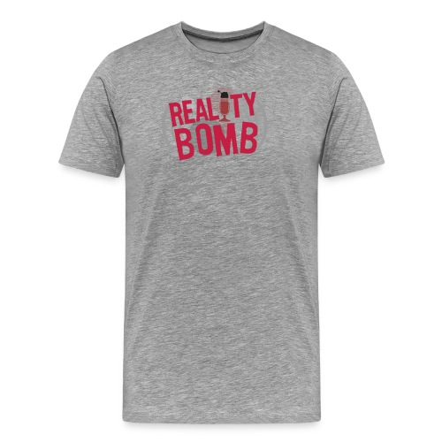 Reality Bomb logo png - Men's Premium T-Shirt