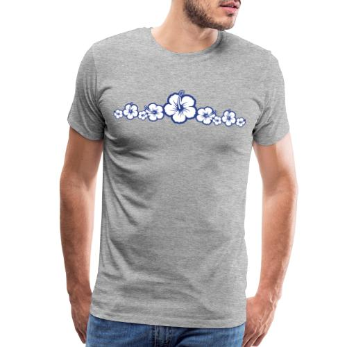 Hawaiian Hibiscus Flowers - Surfing Style - Men's Premium T-Shirt