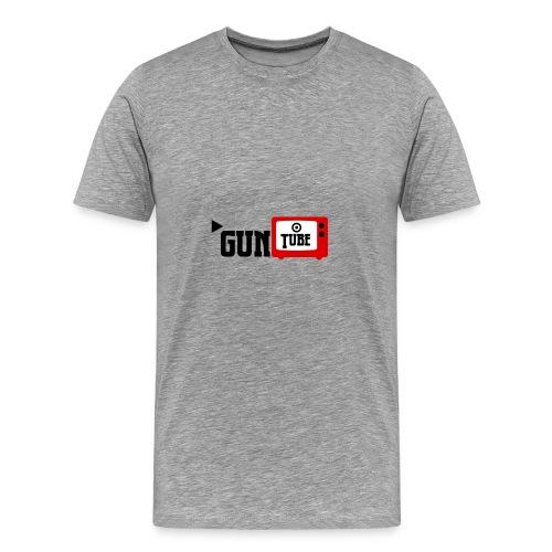 guntube larger logo - Men's Premium T-Shirt