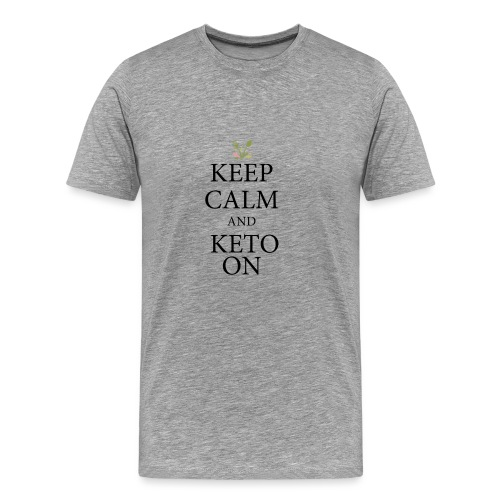 Keto keep calm - Men's Premium T-Shirt