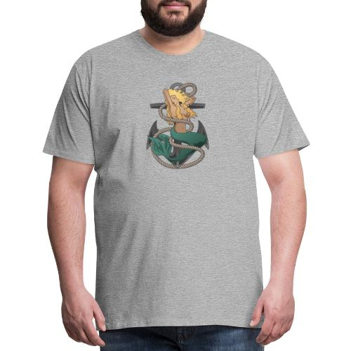 Mermaid with anchor and rope - Men's Premium T-Shirt