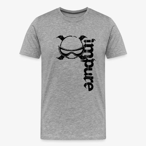 Impure FPV (Black Vertical Logo) - Men's Premium T-Shirt