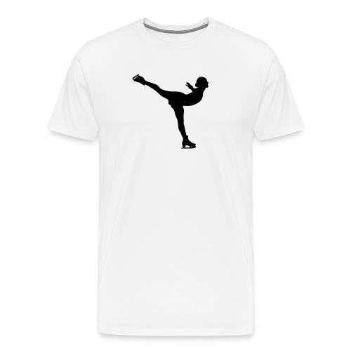 Ice Skating Woman Silhouette - Men's Premium T-Shirt