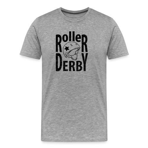 Roller derby helmet typography - Men's Premium T-Shirt