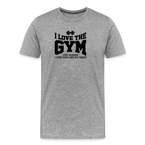 I love the gym - Men's Premium T-Shirt