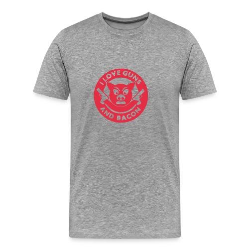 I Love Guns And Bacon - Men's Premium T-Shirt
