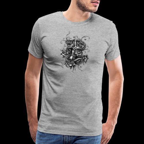 Dagger And Snake - Men's Premium T-Shirt