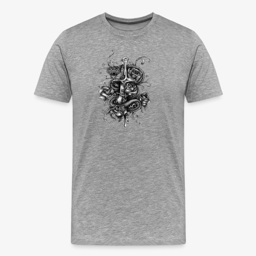 Dagger And Snake - Men's Premium T-Shirt