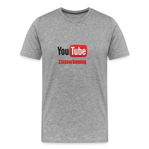 YouTube ZzasserGaming - Men's Premium T-Shirt