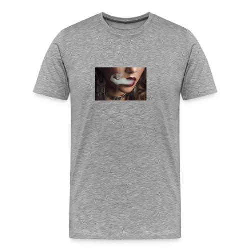 smoking woman 1 - Men's Premium T-Shirt