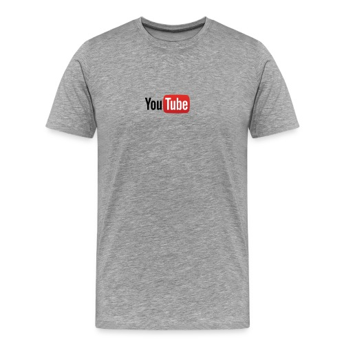 YouTube logo full color png - Men's Premium T-Shirt